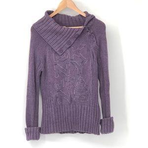 Purple DKNY Jeans Logo Sweater Size Medium